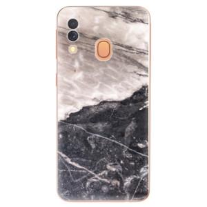 Silikonové odolné pouzdro iSaprio - BW Marble na mobil Samsung Galaxy A40