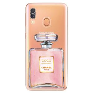 Silikonové odolné pouzdro iSaprio - Chanel Rose na mobil Samsung Galaxy A40