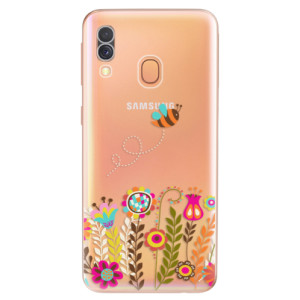 Silikonové odolné pouzdro iSaprio - Bee 01 na mobil Samsung Galaxy A40