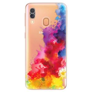 Silikonové odolné pouzdro iSaprio - Color Splash 01 na mobil Samsung Galaxy A40