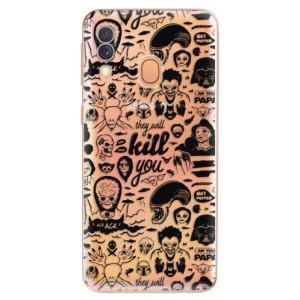 Silikonové odolné pouzdro iSaprio - Comics 01 - black na mobil Samsung Galaxy A40