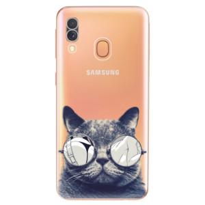 Silikonové odolné pouzdro iSaprio - Crazy Cat 01 na mobil Samsung Galaxy A40