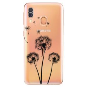 Silikonové odolné pouzdro iSaprio - Three Dandelions - black na mobil Samsung Galaxy A40