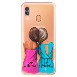 Silikonové odolné pouzdro iSaprio - Best Friends na mobil Samsung Galaxy A40
