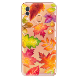 Silikonové odolné pouzdro iSaprio - Autumn Leaves 01 na mobil Samsung Galaxy A40