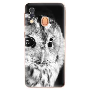 Silikonové odolné pouzdro iSaprio - BW Owl na mobil Samsung Galaxy A40