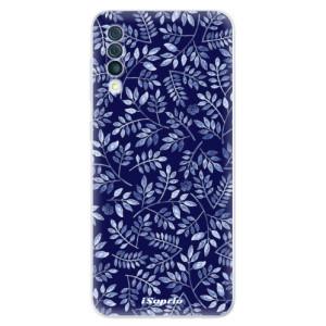 Silikonové odolné pouzdro iSaprio - Blue Leaves 05 na mobil Samsung Galaxy A50