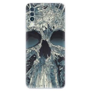 Silikonové odolné pouzdro iSaprio - Abstract Skull na mobil Samsung Galaxy A50