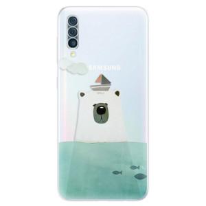 Silikonové odolné pouzdro iSaprio - Bear With Boat na mobil Samsung Galaxy A50