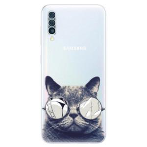 Silikonové odolné pouzdro iSaprio - Crazy Cat 01 na mobil Samsung Galaxy A50