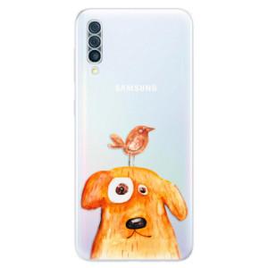 Silikonové odolné pouzdro iSaprio - Dog And Bird na mobil Samsung Galaxy A50