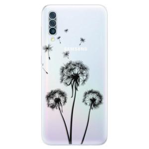 Silikonové odolné pouzdro iSaprio - Three Dandelions - black na mobil Samsung Galaxy A50