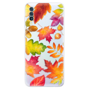 Silikonové odolné pouzdro iSaprio - Autumn Leaves 01 na mobil Samsung Galaxy A50