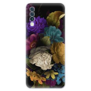 Silikonové odolné pouzdro iSaprio - Dark Flowers na mobil Samsung Galaxy A50
