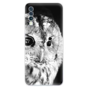 Silikonové odolné pouzdro iSaprio - BW Owl na mobil Samsung Galaxy A50