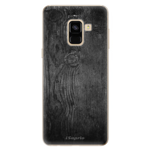 Silikonové odolné pouzdro iSaprio - Black Wood 13 na mobil Samsung Galaxy A8 2018