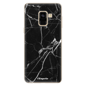 Silikonové odolné pouzdro iSaprio - Black Marble 18 na mobil Samsung Galaxy A8 2018