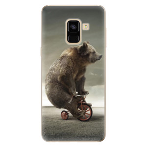 Silikonové odolné pouzdro iSaprio - Bear 01 na mobil Samsung Galaxy A8 2018