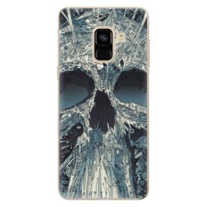 Silikonové odolné pouzdro iSaprio - Abstract Skull na mobil Samsung Galaxy A8 2018