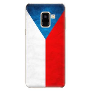 Silikonové odolné pouzdro iSaprio - Czech Flag na mobil Samsung Galaxy A8 2018