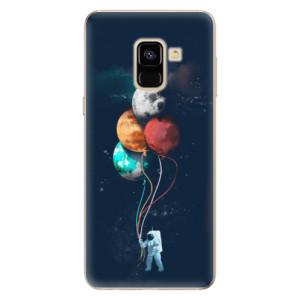 Silikonové odolné pouzdro iSaprio - Balloons 02 na mobil Samsung Galaxy A8 2018