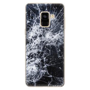 Silikonové odolné pouzdro iSaprio - Cracked na mobil Samsung Galaxy A8 2018