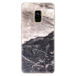 Silikonové odolné pouzdro iSaprio - BW Marble na mobil Samsung Galaxy A8 2018
