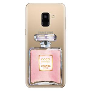 Silikonové odolné pouzdro iSaprio - Chanel Rose na mobil Samsung Galaxy A8 2018