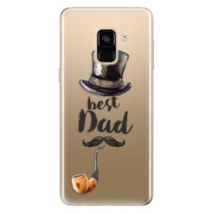 Silikonové odolné pouzdro iSaprio - Best Dad na mobil Samsung Galaxy A8 2018