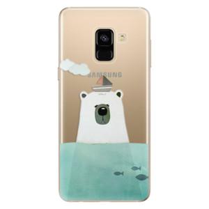 Silikonové odolné pouzdro iSaprio - Bear With Boat na mobil Samsung Galaxy A8 2018