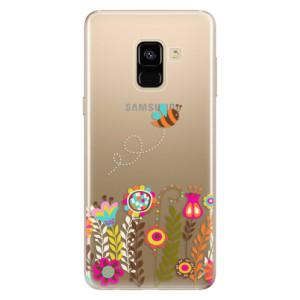 Silikonové odolné pouzdro iSaprio - Bee 01 na mobil Samsung Galaxy A8 2018