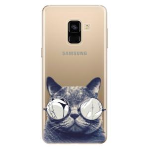 Silikonové odolné pouzdro iSaprio - Crazy Cat 01 na mobil Samsung Galaxy A8 2018