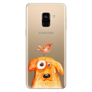 Silikonové odolné pouzdro iSaprio - Dog And Bird na mobil Samsung Galaxy A8 2018