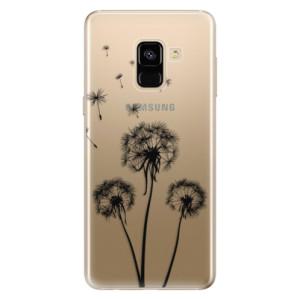 Silikonové odolné pouzdro iSaprio - Three Dandelions - black na mobil Samsung Galaxy A8 2018
