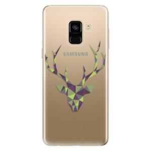 Silikonové odolné pouzdro iSaprio - Deer Green na mobil Samsung Galaxy A8 2018