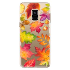 Silikonové odolné pouzdro iSaprio - Autumn Leaves 01 na mobil Samsung Galaxy A8 2018