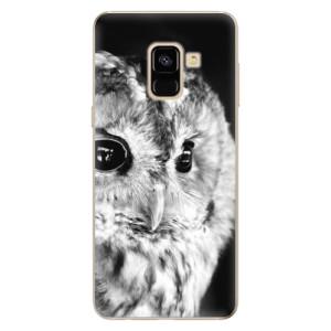 Silikonové odolné pouzdro iSaprio - BW Owl na mobil Samsung Galaxy A8 2018