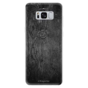 Silikonové odolné pouzdro iSaprio - Black Wood 13 na mobil Samsung Galaxy S8