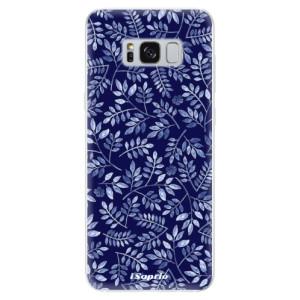 Silikonové odolné pouzdro iSaprio - Blue Leaves 05 na mobil Samsung Galaxy S8