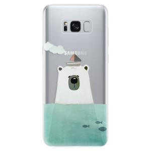 Silikonové odolné pouzdro iSaprio - Bear With Boat na mobil Samsung Galaxy S8