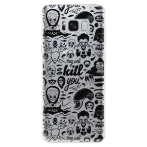 Silikonové odolné pouzdro iSaprio - Comics 01 - black na mobil Samsung Galaxy S8