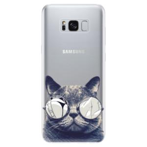 Silikonové odolné pouzdro iSaprio - Crazy Cat 01 na mobil Samsung Galaxy S8