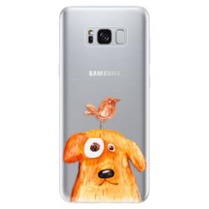 Silikonové odolné pouzdro iSaprio - Dog And Bird na mobil Samsung Galaxy S8