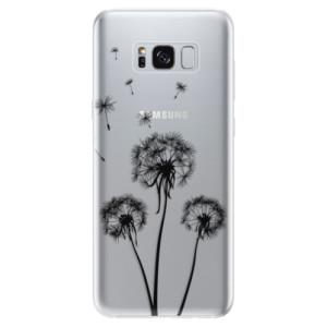 Silikonové odolné pouzdro iSaprio - Three Dandelions - black na mobil Samsung Galaxy S8
