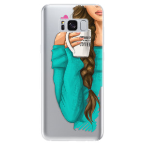 Silikonové odolné pouzdro iSaprio - My Coffe and Brunette Girl na mobil Samsung Galaxy S8