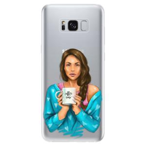Silikonové odolné pouzdro iSaprio - Coffe Now - Brunette na mobil Samsung Galaxy S8