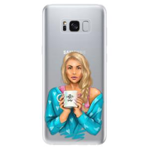 Silikonové odolné pouzdro iSaprio - Coffe Now - Blond na mobil Samsung Galaxy S8
