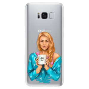 Silikonové odolné pouzdro iSaprio - Coffe Now - Redhead na mobil Samsung Galaxy S8