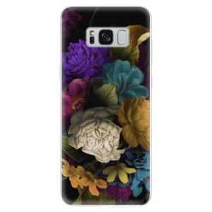 Silikonové odolné pouzdro iSaprio - Dark Flowers na mobil Samsung Galaxy S8