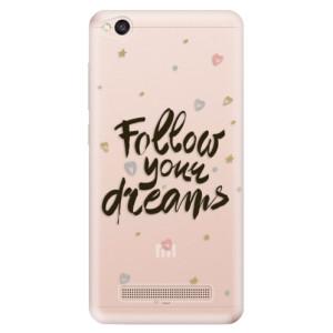 Silikonové odolné pouzdro iSaprio - Follow Your Dreams - black na mobil Xiaomi Redmi 4A